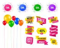 Sale rabattsymboler Tecken för pris för specialt erbjudande vektor royaltyfri illustrationer