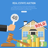 Sale real estate at auction Royalty Free Stock Photos
