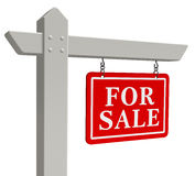 For sale real estate sign Royalty Free Stock Photos