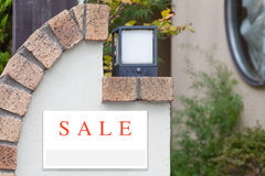 Sale Real Estate Sign Stock Image