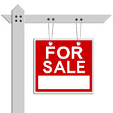 For sale real estate sign. Isolated over white background Stock Image