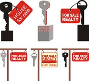 Sale of real estate, vector illustration Royalty Free Stock Photography