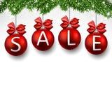 Sale realistic christmas balls. Royalty Free Stock Photography