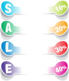 SALE realistic paper stickers elements Royalty Free Stock Photography