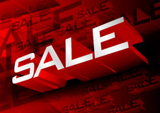 Sale red Royalty Free Stock Photography