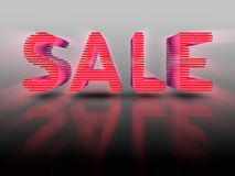 Sale Red 3D Letters Stock Photo