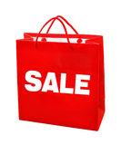 Sale red bag Royalty Free Stock Photography