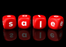 Sale Red Cubes Stock Photography