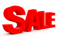 SALE - red 3d letters  on white Royalty Free Stock Photo