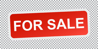 For sale. Red flat vector icon vector illustration