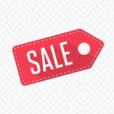 Sale tag label. Sale red label. Discount price tag for web or print. Vector illustration EPS 10 Royalty Free Stock Photo