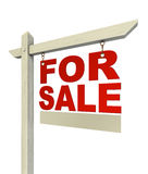 For sale red real estate sign only with letters Stock Images