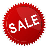 SALE. Red sale sign or sticker isolated on white background Stock Photos
