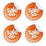 Sale red stickers Stock Photography