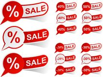 SALE red tags. Royalty Free Stock Images
