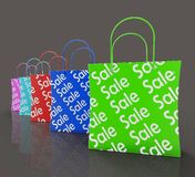 Sale Reduction Shopping Bags Shows Bargains Royalty Free Stock Image