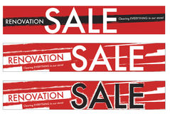 SALE Renovation banner Stock Photos