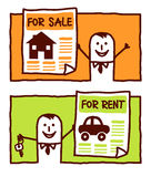 For sale & for rent Royalty Free Stock Photos