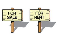 Sale and rent signs Stock Images
