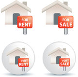 For sale and rent symbol Royalty Free Stock Images