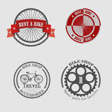 Sale and rental of bicycles for travel Stock Photography