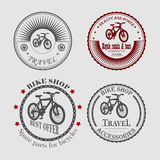 sale and rental of bicycles for travel Stock Photo