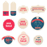 2015 sale Retro labels and Vintage labels collection. Premium Quality Guarantee vintage styled signs set Stock Images