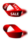 Sale ribbon. A design for sale Stock Photography