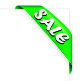Sale ribbon green Stock Images