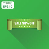 Sale 30% ribbon icon. Business concept sale 30 percent sticker l Royalty Free Stock Image