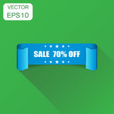 Sale 70% ribbon icon. Business concept sale 70 percent sticker. Sale 70% ribbon icon. Business concept sale 70 percent sticker label pictogram. Vector Royalty Free Stock Images