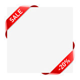 Sale ribbons Stock Images