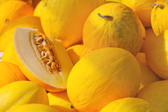 Sale ripe of melons Stock Photo