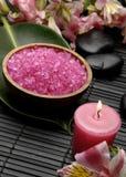 Sale rosa della stazione termale Fotografia Stock