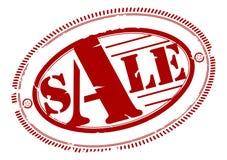 Sale rubber stämpel Arkivfoto