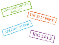 Sale rubber stamps. Rubber stamps of special offer big sale the best price and 100% guranteed quality stock illustration