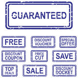 Sale Rubber Stamps Stock Photos