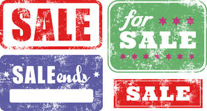 Sale Rubber Stamps Set Royalty Free Stock Photo
