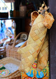 Sale of Russian handicrafts, souvenirs, Russian bast shoes Stock Photography