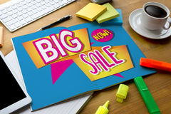 SALE and Sale Discount Promotion Deduction Man Planning , sale n. Ow , Super Sale, this weekend special offer, Business Sales Increase Revenue Shares Royalty Free Stock Image
