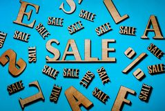 Sale, sale and a discount stock image