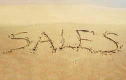 Sale on sand Stock Photos