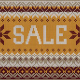 Sale: Scandinavian style knitted pattern. Flat style Stock Photos