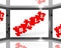 Sale On Screen Showing Special Discounts Royalty Free Stock Photo