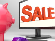 Sale Screen Shows Retail Marketing And Promotion Stock Image