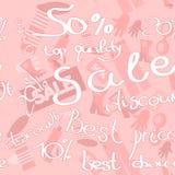 Sale seamless pattern Stock Photography