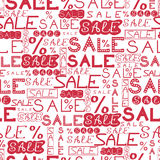 Sale seamless pattern background Royalty Free Stock Photos