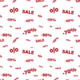 Sale seamless pattern Royalty Free Stock Photography
