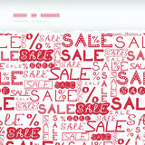 Sale seamless pattern horizontal torn frame Stock Photo