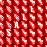 Sale seamless pattern Royalty Free Stock Images
